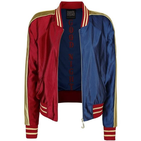 Suicide Squad Varsity Jacket found on Polyvore featuring outerwear ...