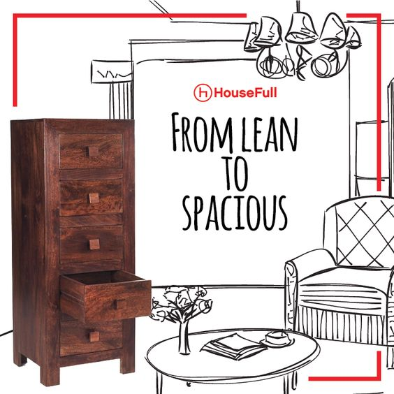 Bring home the art of stylish living in dimensions, with HouseFull's Krazy Chest of Drawers.