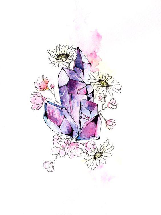 Daisy Crystals. Original Hand Drawn/Painted. by ArtLawOriginals, $50.00