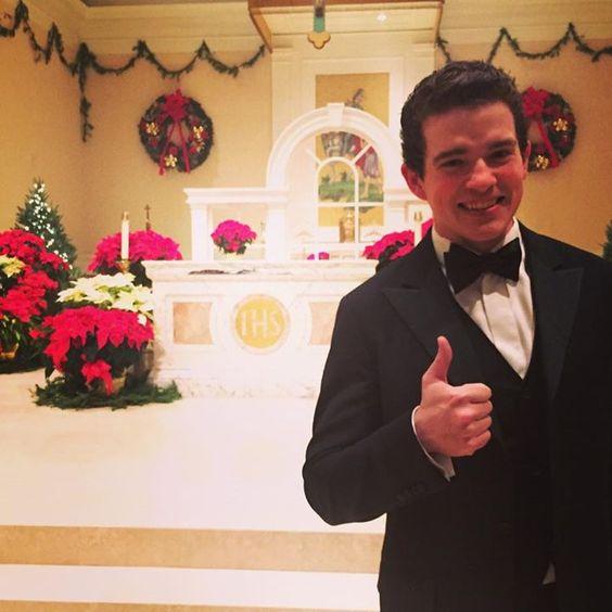 Emmett O'Hanlon after Mass