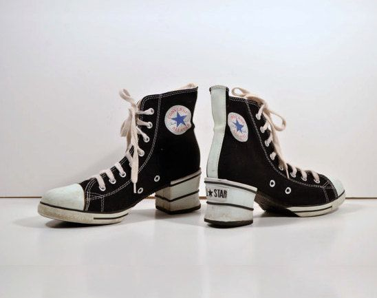 Vintage 90s CONVERSE Women's All Stars Chuck Taylor High Tops ...