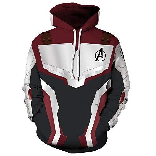 Endgame Quantum Battle Suit Hoodies Cosplay Sweatshirt Pants Costume Avengers 4