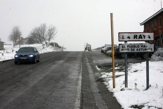 la nieve en asturias la raya- aller-asturias