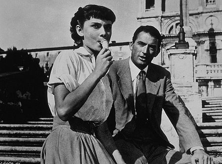 "9202-3 ""Roman Holiday"" Audrey Hepburn and Gregory Peck"