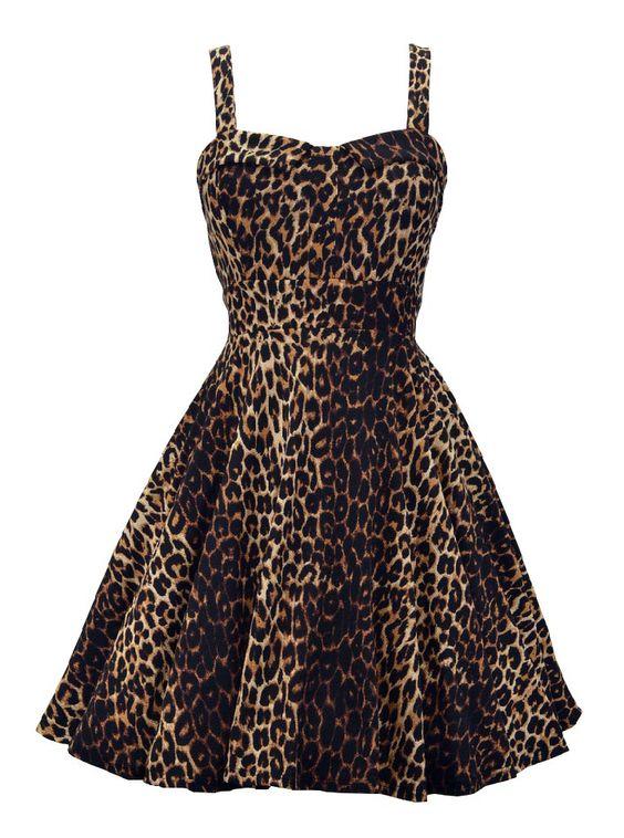 """Women's """"Leopard Bombshell"""" Dress by Double Trouble Apparel (Leopard)"""