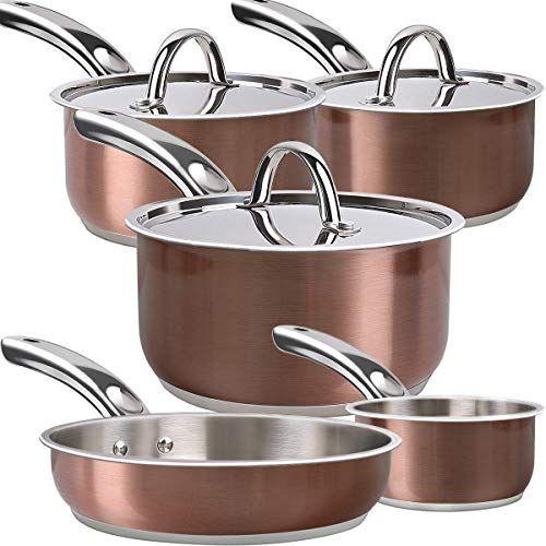 Lightning Deal Induction Cookware Set Cooking Pot And Pan Set Tri