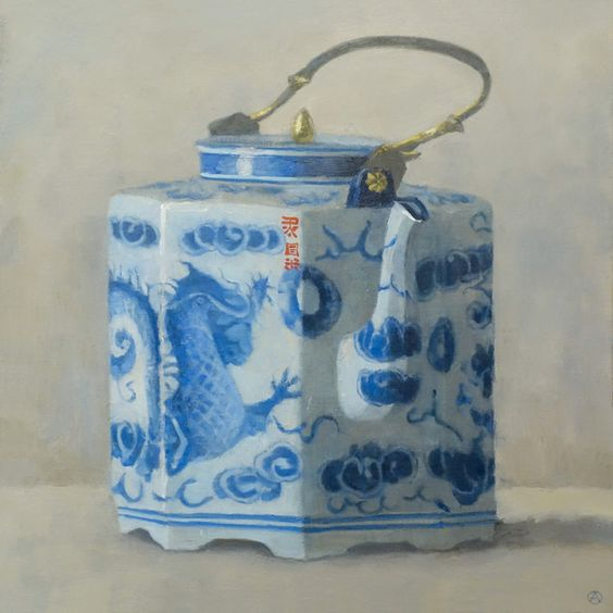 "Gallery Henoch - Olga Antonova, Teapot with Dragon, Oil on Canvas, 20"" x 20"""