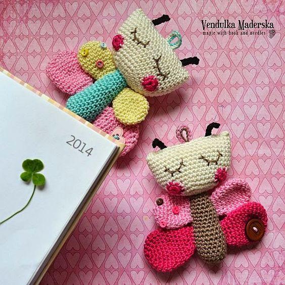 Amigurumi Butterfly Crochet Patterns Free : crochet butterfly Amigurumi - Figurer Pinterest ...