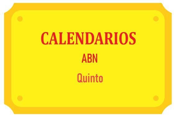 Calendarios ABN Quinto