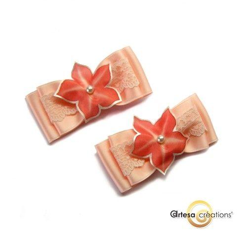 Clip de chaussures fleurs en soie peinte à la main, noeud et dentelle