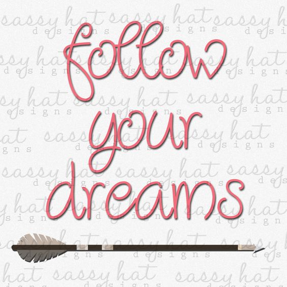 """INSTANT DOWNLOAD ~ Follow Your Dreams 12"""" x 12"""" Digital Image JPEG by SassyHatCF on Etsy"""