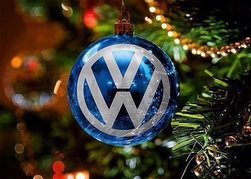 Forget Volkswagen tree decorations, we'd much rahter have a VW sat under the tree! Polo, Golf ...