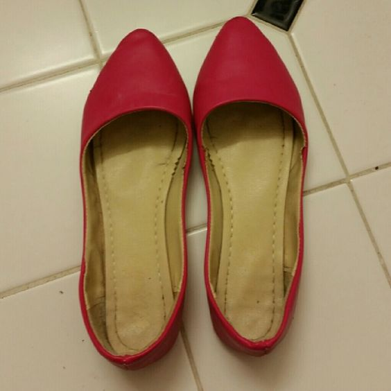 Hot Pink Flats Used hot pink flats in a fair condition Shoes Flats & Loafers
