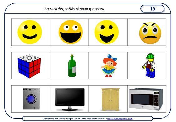 Fichas de razonamiento para niños - Familia y Cole