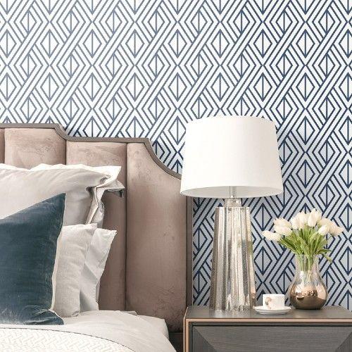 Diamond Geometric Peel Stick Wallpaper By Seabrook Lelands Wallpaper Peel And Stick Wallpaper Wall Coverings Removable Wallpaper