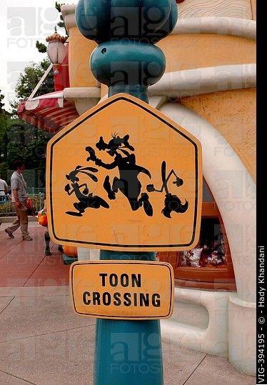 la ciudad de Toon en Disneyland Tokio - Disneyland Tokio, Japón, 30/09/2006