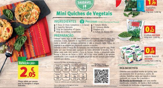 Mini Quiches de Vegetais