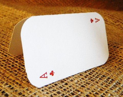 SET OF 25 Vegas Poker Place or Escort Cards  by WoodlarkDesigns, $8.75