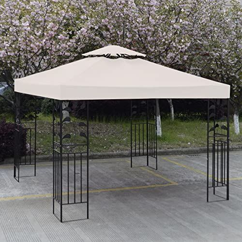 Best Seller Sundry 10 X 10 Gazebo Top Cover Patio Canopy Replacement 1 Tier 2 Tier 3 Color Protection Against Uv Rays Sun 2 Tier Beige Online Lookpoppre In 2020 Gazebo Canopy Canopy Outdoor Gazebo
