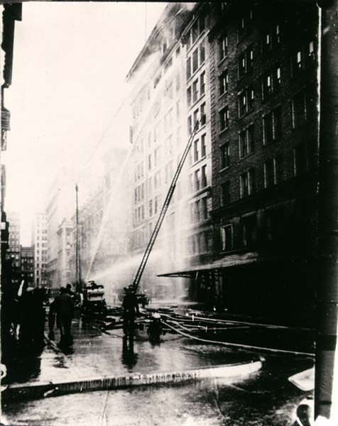 Firefighters Fighting Triangle Shirtwaist Fire, March 25, 1911