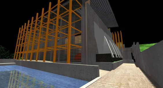 Estructura de acero para cancha de basquetbol, gimnasios, y áreas administrativas, para un centro social, con un área de #construcción de 2300m2.  #arquitectura