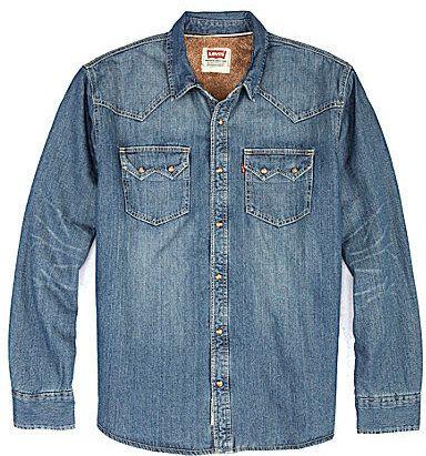 Levi's ́s Heywood Sherpa-Lined Denim Shirt Jacket on shopstyle.com ...