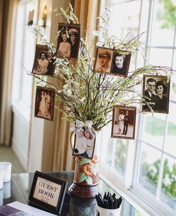 16 Creative Ways To Display Family Photos At Your Wedding