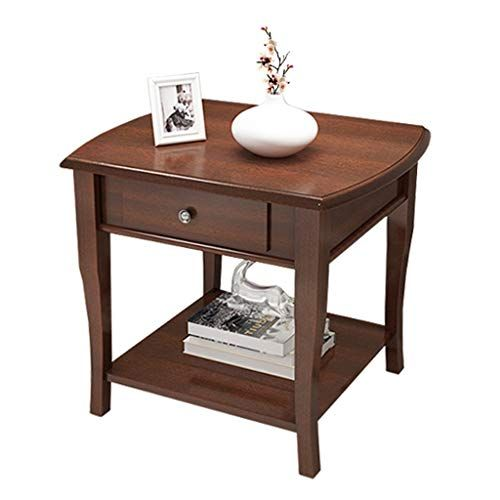 Home Warehouse Solid Wood Sofa Table Living Room Side Table Telephone Table Corner Table Small Coff Wood Sofa Table Living Room Side Table Coffee Table Square