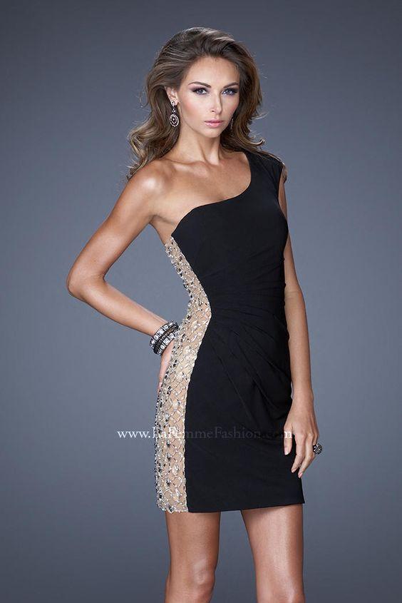 La Femme 20564 One Shoulder Cocktail Dress- Modern one shoulder ...