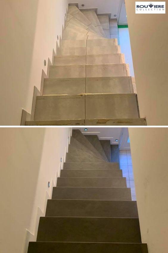 Modernisez Vos Escaliers Avec Un Revetement Enduit Beton Cire Escalier Carrele Escalier Renover Escalier
