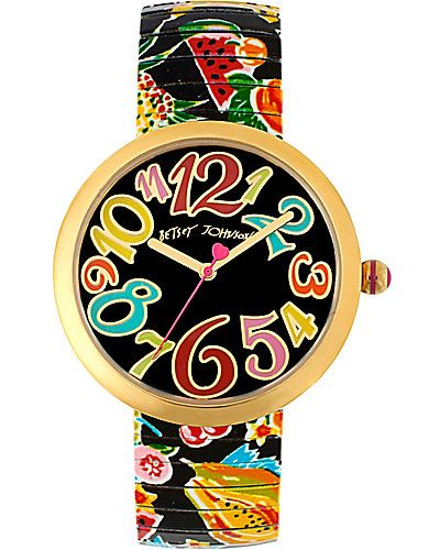 PRINTED FRUIT STRAP WATCH  BJ00039-25  $65.98 was 95.00  Betsy Johnson