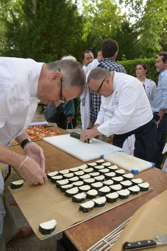 Duo de chefs : René Bergès La Table de Beaurecueil www.latabledebeaurecueil.com  Richard Le Page Le Grand Puech- Mimet www.legrandpuech.fr