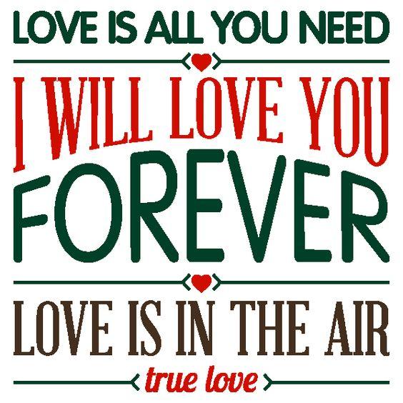 Vinilos Decorativos Textos Love is all you need
