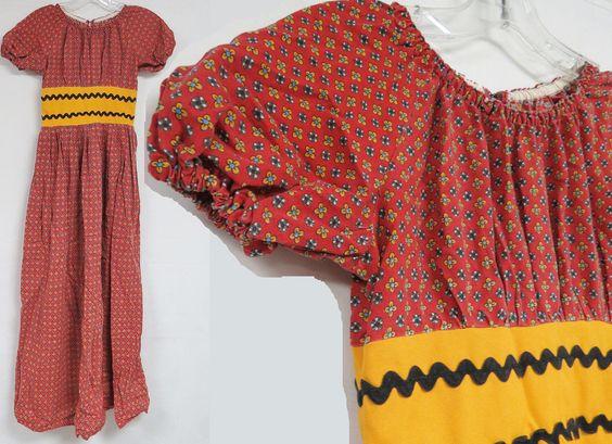 Vintage 70s MIDI Dress Calico Floral Rik RAK Prairie Hippie Boho Festival XXS | eBay