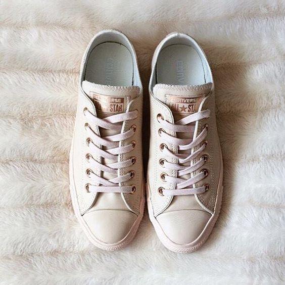converse pastel rose tan