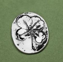 "Make use of this Four Leaf Clover Token as your place card decoration or simply a lucky charm in your pocket.  Perfect for Irish theme weddings and bridal showers. Cast in pewter and measures approximately 0.75""  $0.96 ea for bag of 50"