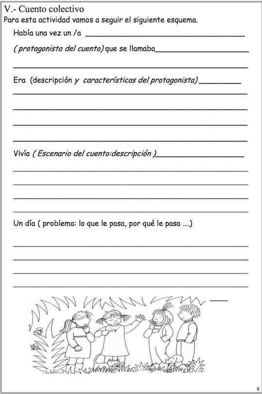 Aprender Escribir Cuentos Primer Ciclo De Primaria Actividades Para Clase De Español Recursos De Enseñanza De Español Redacción De Textos