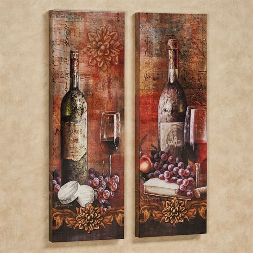 Grapes Of Toscana Canvas Wall Art Multi Warm Set Of Two Italian Kitchen Decor Grape Decor Tuscan Decorating