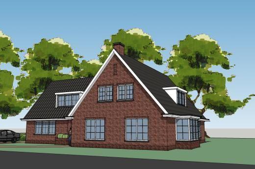 Dit ontwerp is gemaakt voor een prachtige hoekkavel in een groene omgeving het t model biedt - Entree eigentijds huis ...