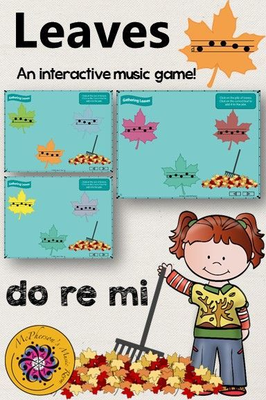 Fun interactive music game reinforcing aurally identifying melody!. It will be a hit with your elementary music students. Perfect for fall or anytime you are working on do re mi.