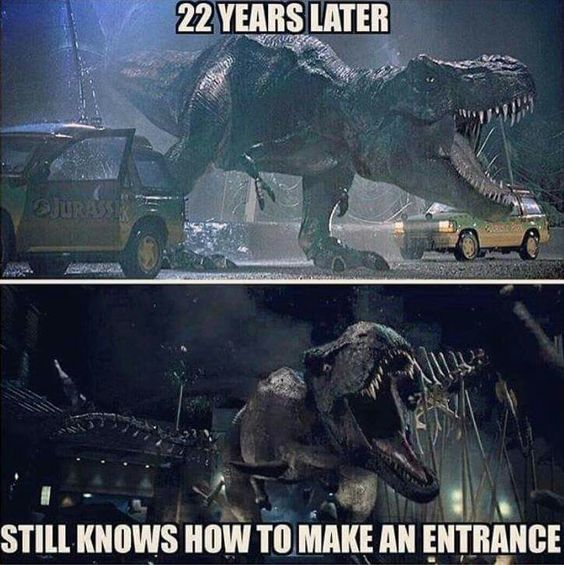 There's not many games or movie things I have a strong opinion on. But if you have Trex a in a movie and it doesn't sound like the Trex from Jurassic Park it's not a damn Trex