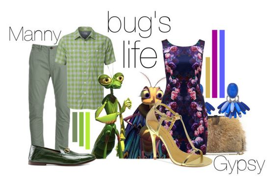 """bug's life"" by luiglesias ❤ liked on Polyvore featuring Superdry, The North Face, Cashhimi, Forever New, Gucci, Chinese Laundry and disneybound"