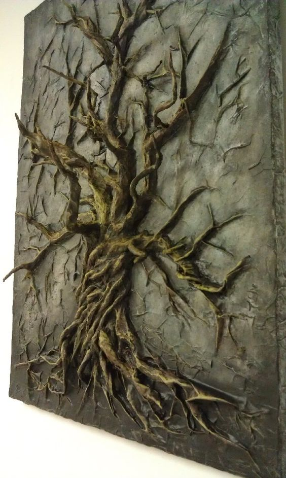 Vicious Cycle. 18x24 3D Acrylic painting. Tree made of recycled ...