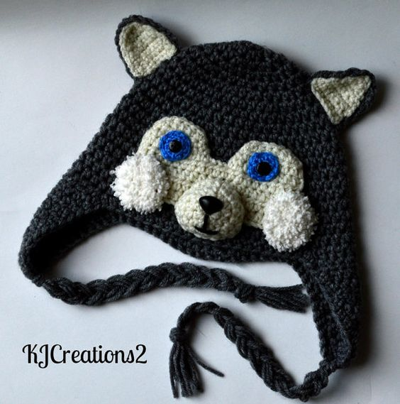 Free Crochet Animal Hat Patterns With Ear Flaps : Husky, Flap hat and Ears on Pinterest