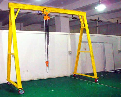 2t Movable Gantry Crane With Electric Hoist Gantry Crane Cranes For Sale Crane