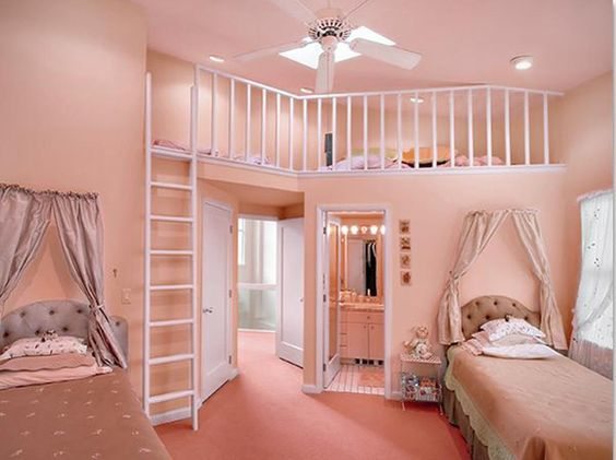 55 Room Design Ideas For Teenage Girls | Raised Beds, Awesome And