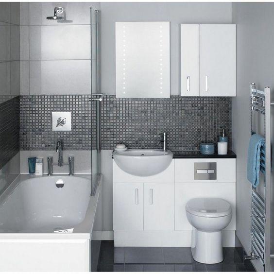 Combinaison baignoire tr s petite salle de bains avec for Tres petite salle de bain