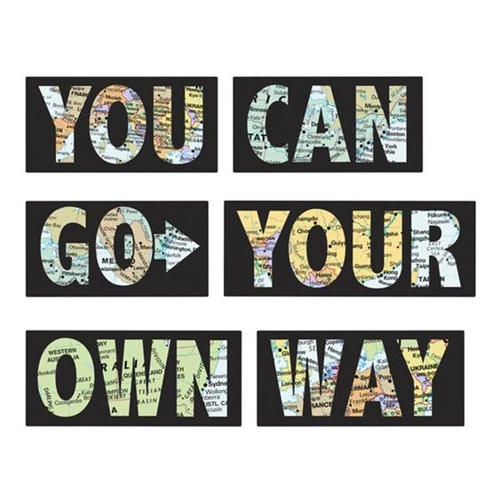 Go Your Own Way Wall Quote - $17.99
