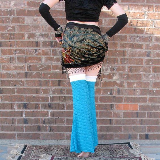 Painted Mermaid - Gypset Gaiters - Flared Ruffled Leggies - Hooping - Tribal Belly Dance - Dance - Leg Warmers. $89.49, via Etsy.: