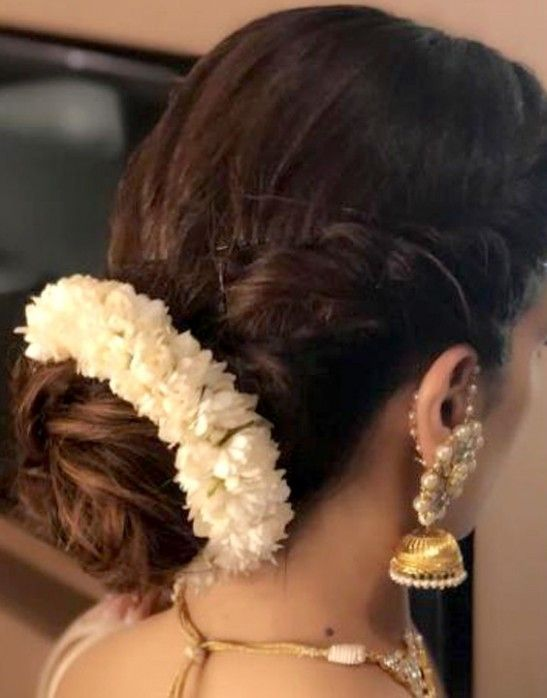 Hairstyle For Short Hair Wedding Indian In 2020 Short Wedding Hair Indian Wedding Hairstyles Indian Bridal Hairstyles